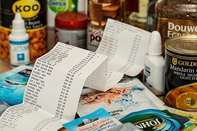 nákupní výdaje za potraviny
